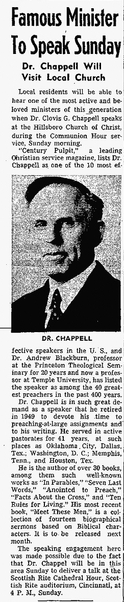Dr Clovis Gillham Chappell