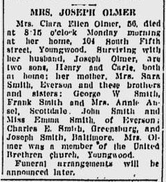 Clara Ellen <i>Smith</i> Olmer