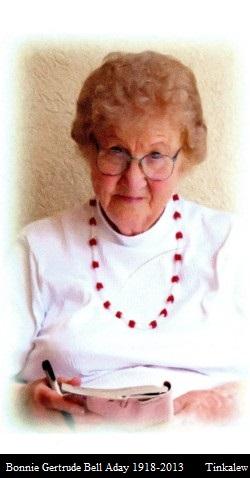 Bonnie Gertrude <i>Bell</i> Aday