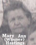 Mary Ann Polly <i>Winner</i> Hastings