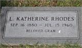 Leola Katherine Kate <i>Welch</i> Rhodes