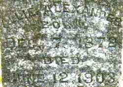 Mary Alice Allie <i>Raburn</i> Alexander