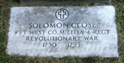 Lieut Solomon Close, Sr