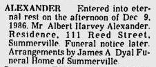 Harvey Albert Alexander