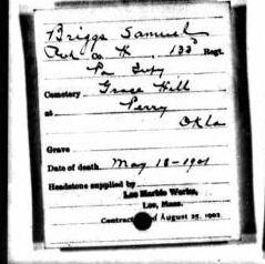 Sgt Samuel Briggs