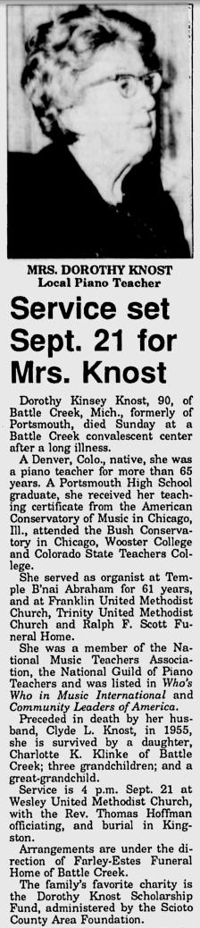 Dorothy <i>Kinsey</i> Knost