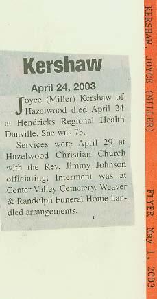 Joyce Claire <i>Miller</i> Kershaw