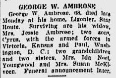 George W. Ambrose