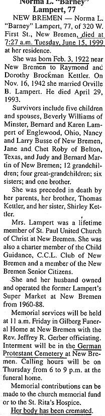 Norma Leona Barney <i>Kettler</i> Lampert