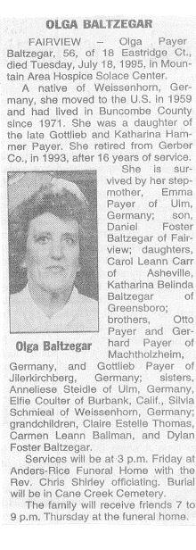 Olga <i>Player</i> Baltzegar