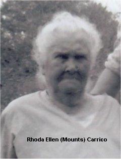 Rhoda Ellen <i>Mounts</i> Carrico