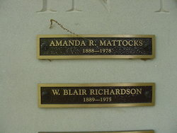 Amanda <i>Richardson</i> Mattocks