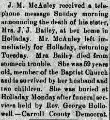 Josephine J <i>McAuley</i> Bailey