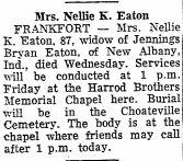Nellie A <i>Kirk</i> Eaton