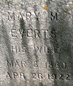 Mary M <i>Everts</i> Dingman