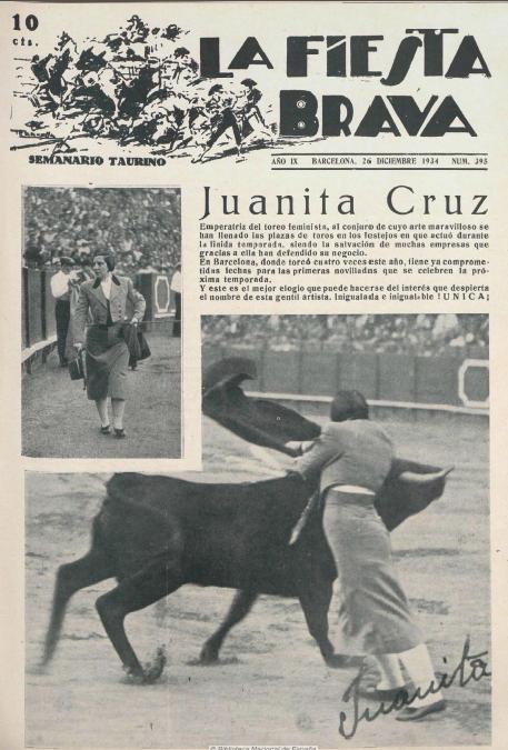 """La Fiesta Brava -   """"Emperatriz del toreo feminísta"""""""