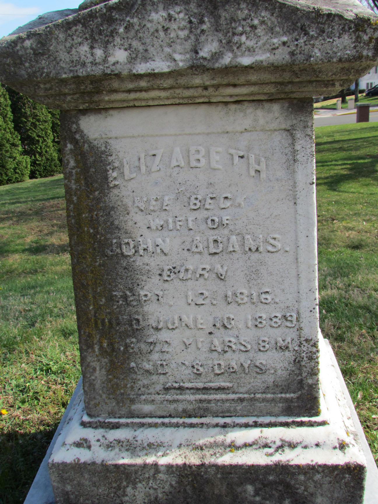 Elizabeth <i>Beck</i> Adams