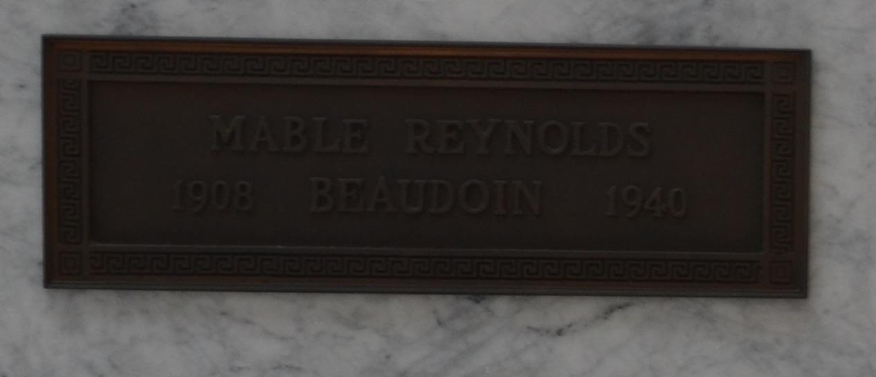 Mable Pauline <i>Reynolds</i> Beaudoin