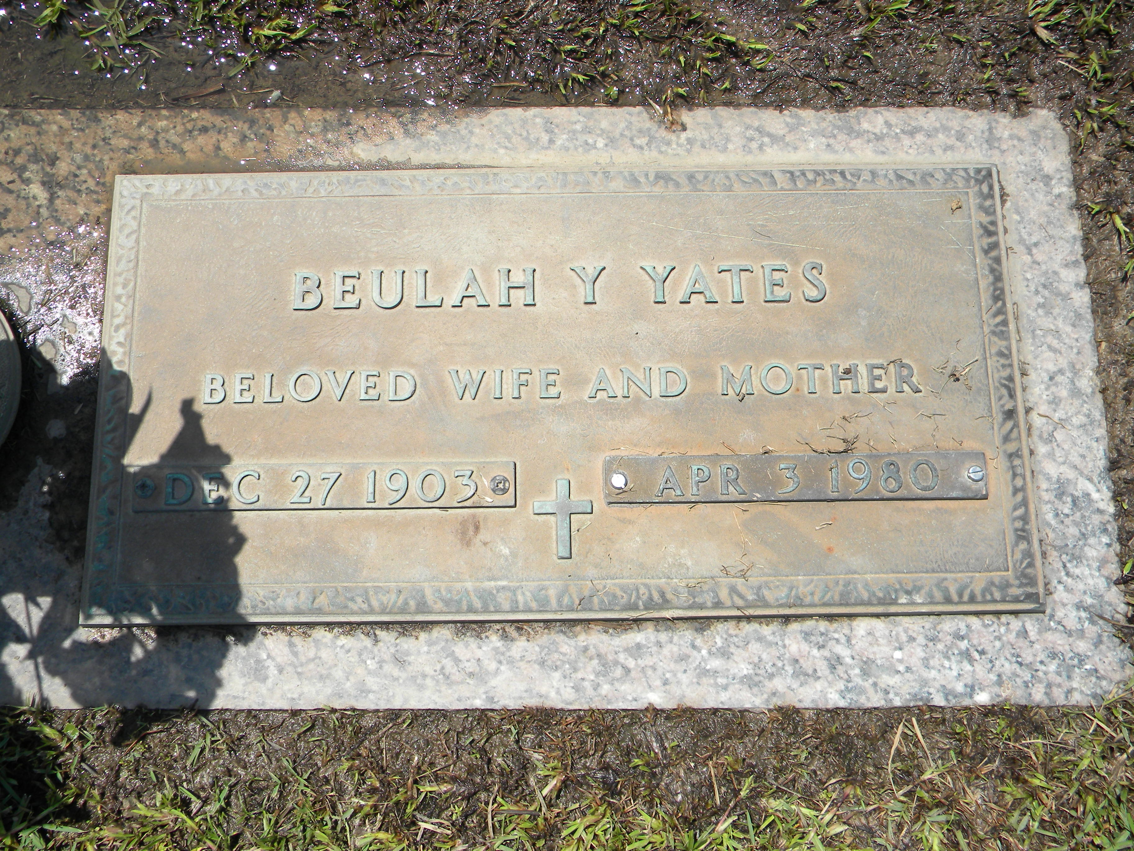 Beulah Annelle <i>Yarbrough</i> Yates