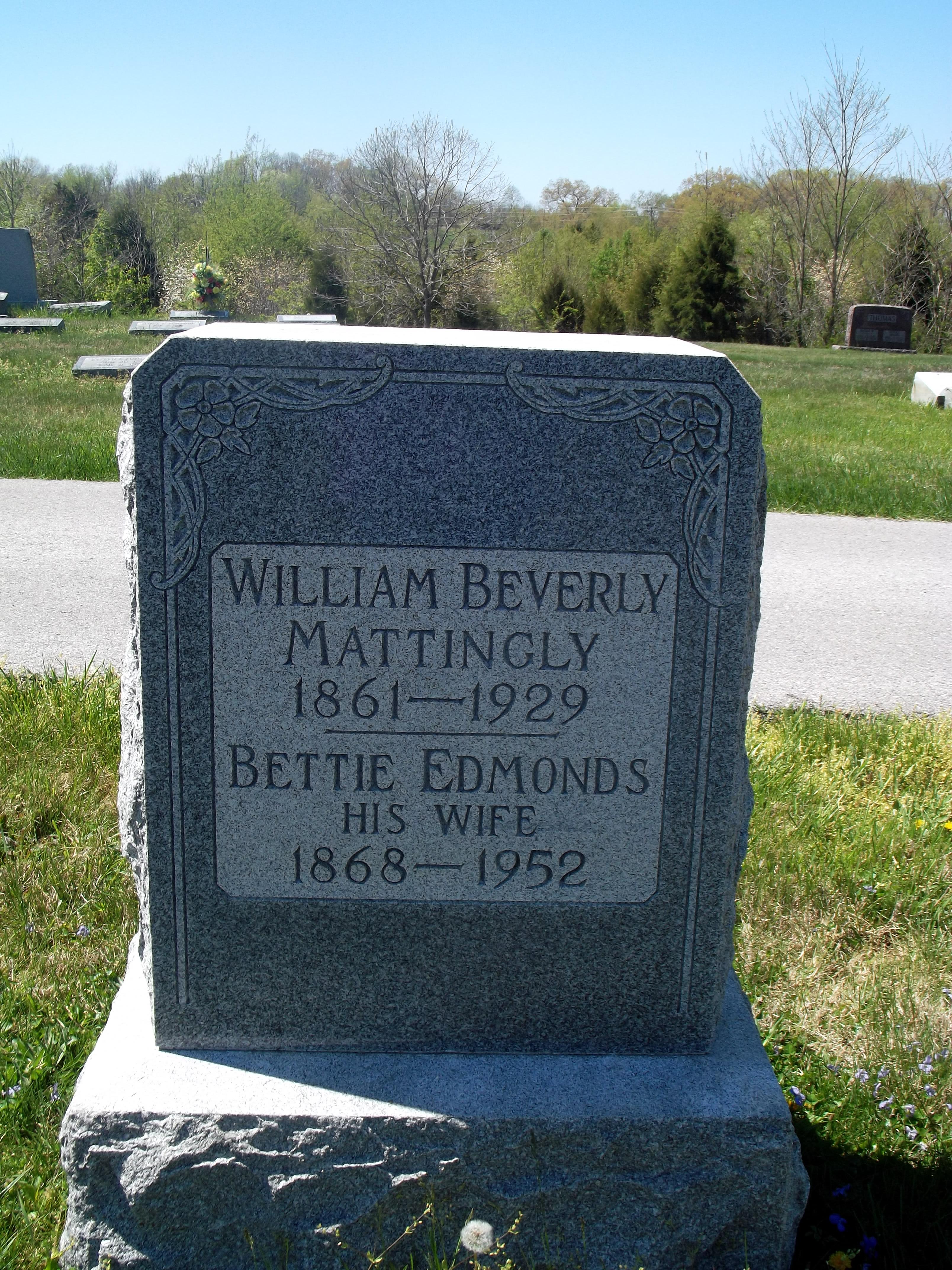 Elizabeth Lee Bettie <i>Edmonds</i> Mattingly