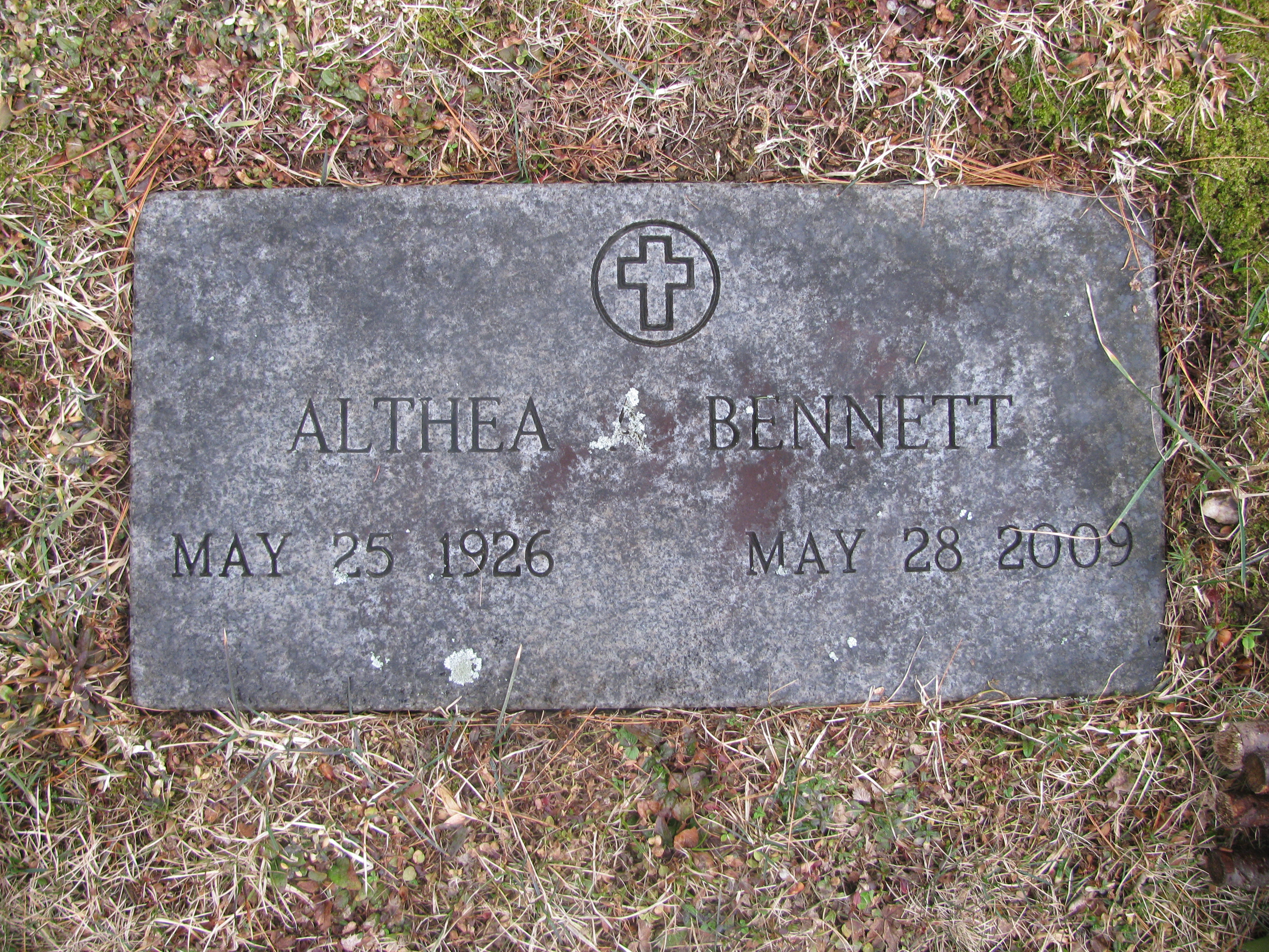 Althea A <i>Moore</i> Bennett
