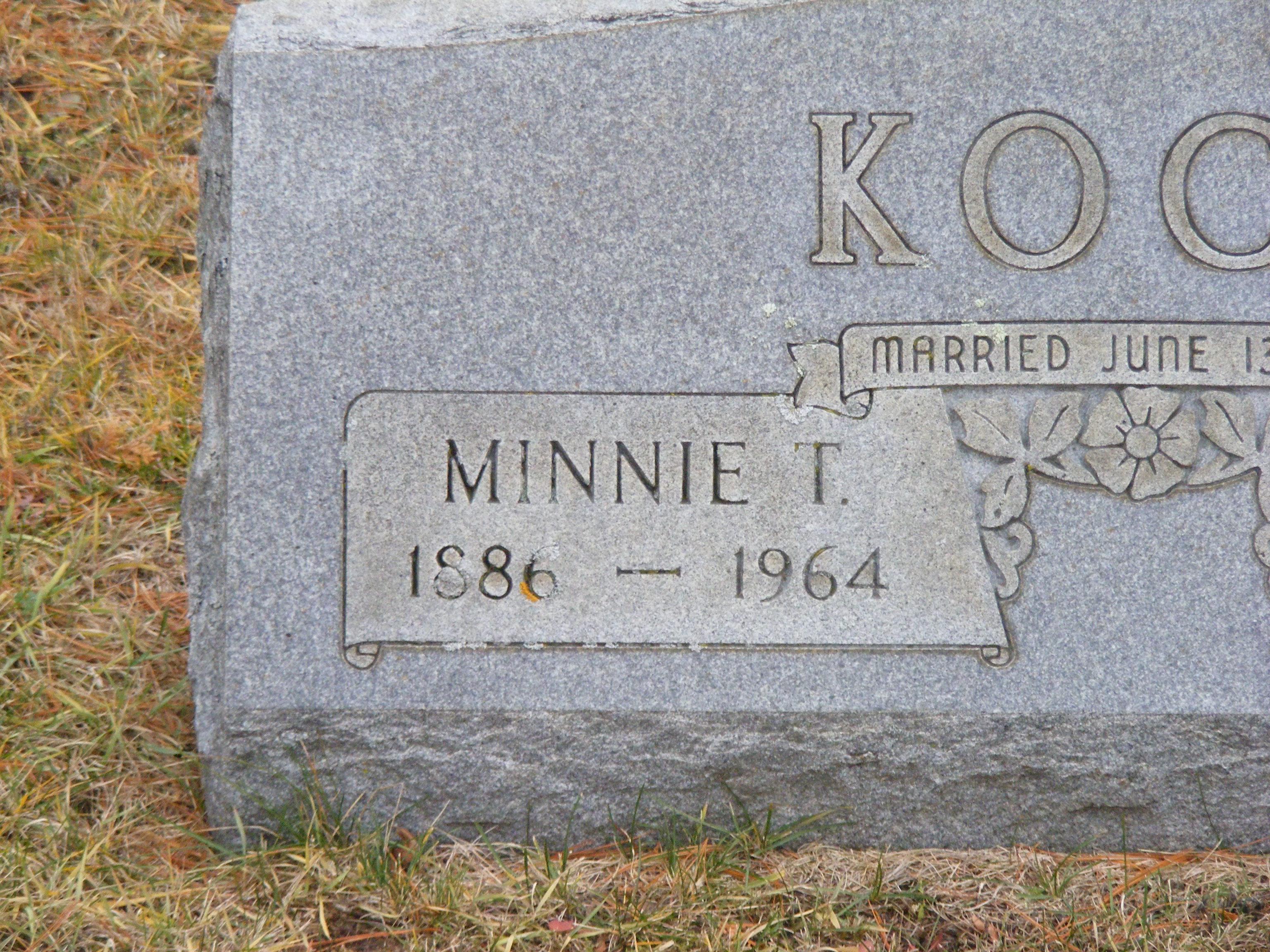 Minnie T Koch