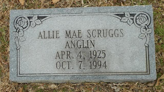 Allie Mae <i>Scruggs</i> Anglin