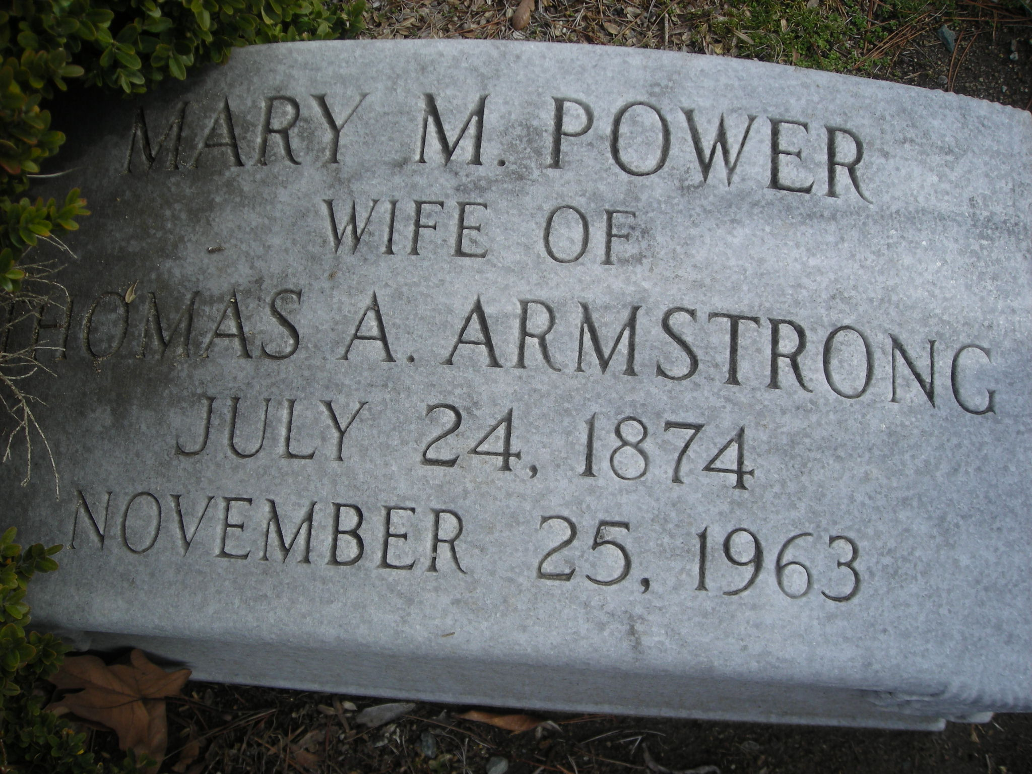 Mary Margaret <i>Power</i> Armstrong