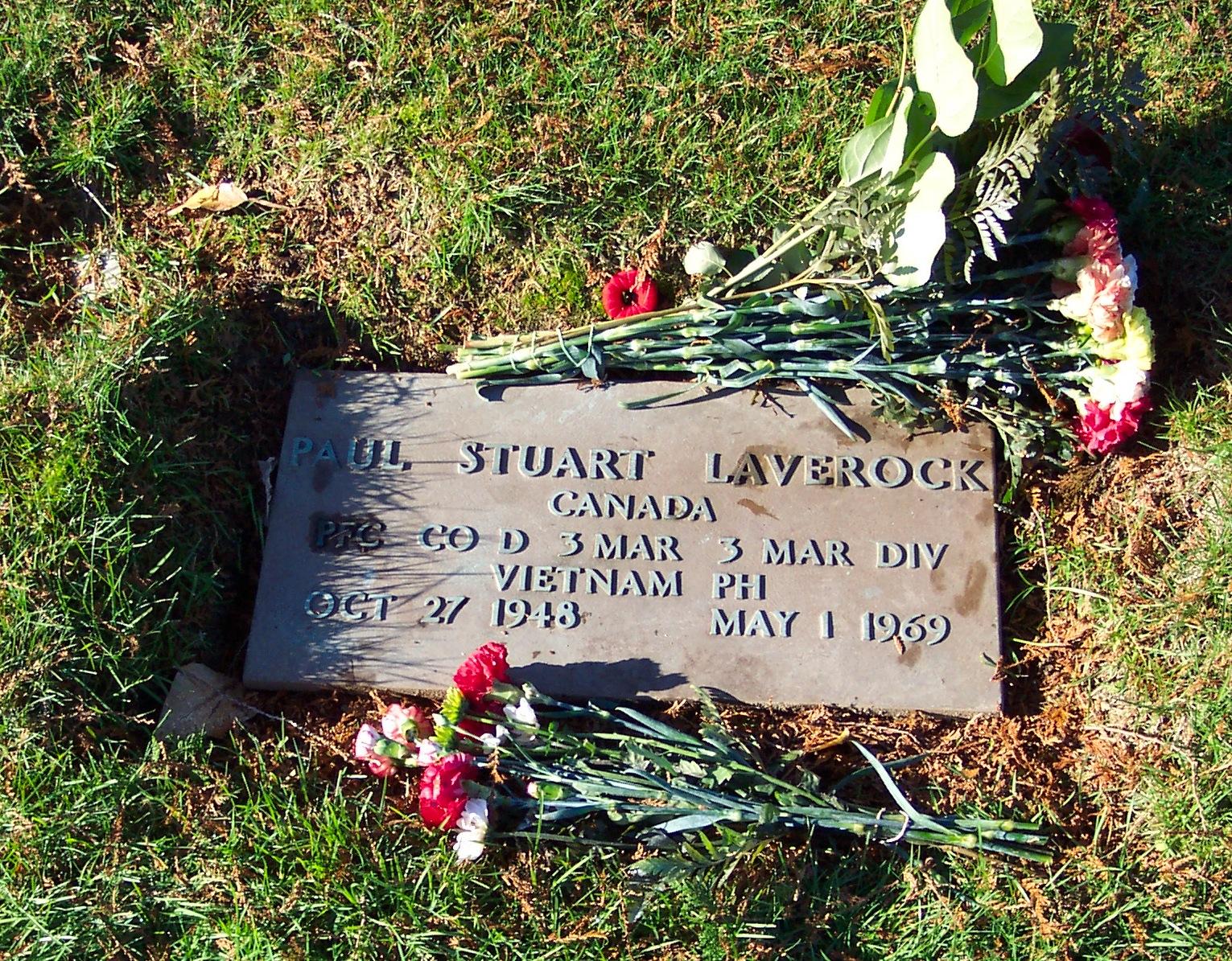 PFC Paul Stuart Laverock
