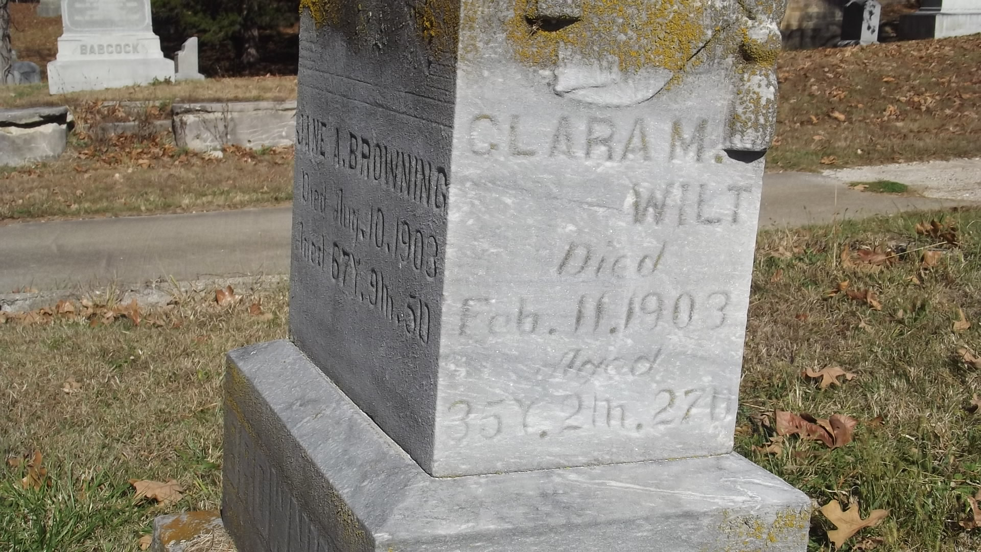 Clara M. <i>Browning</i> Wilt