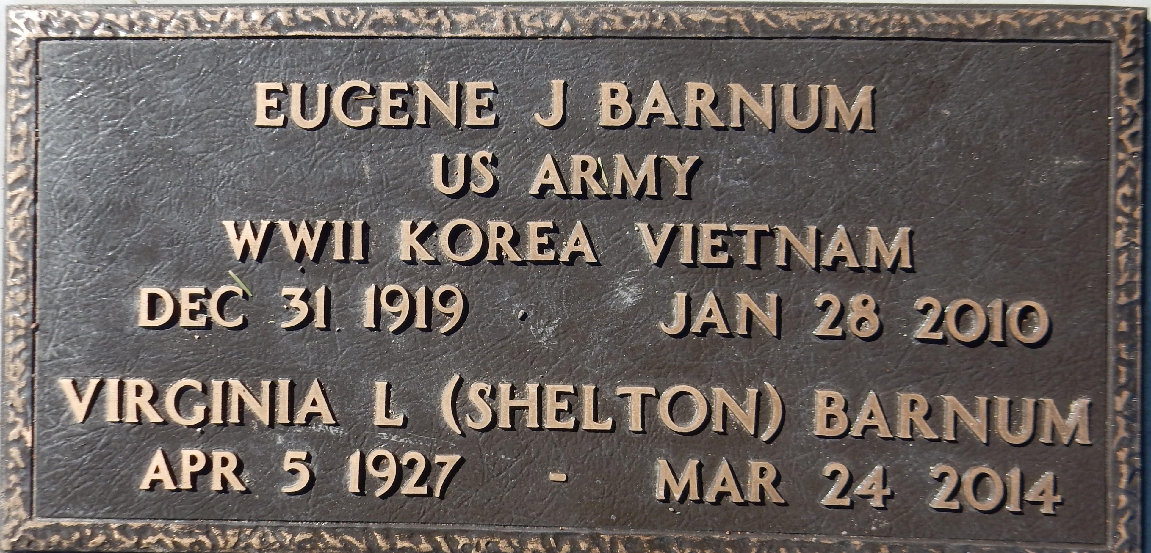 Virginia Lee <i>Shelton</i> Barnum