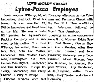 Lewis Andrew Unkie O'Berry