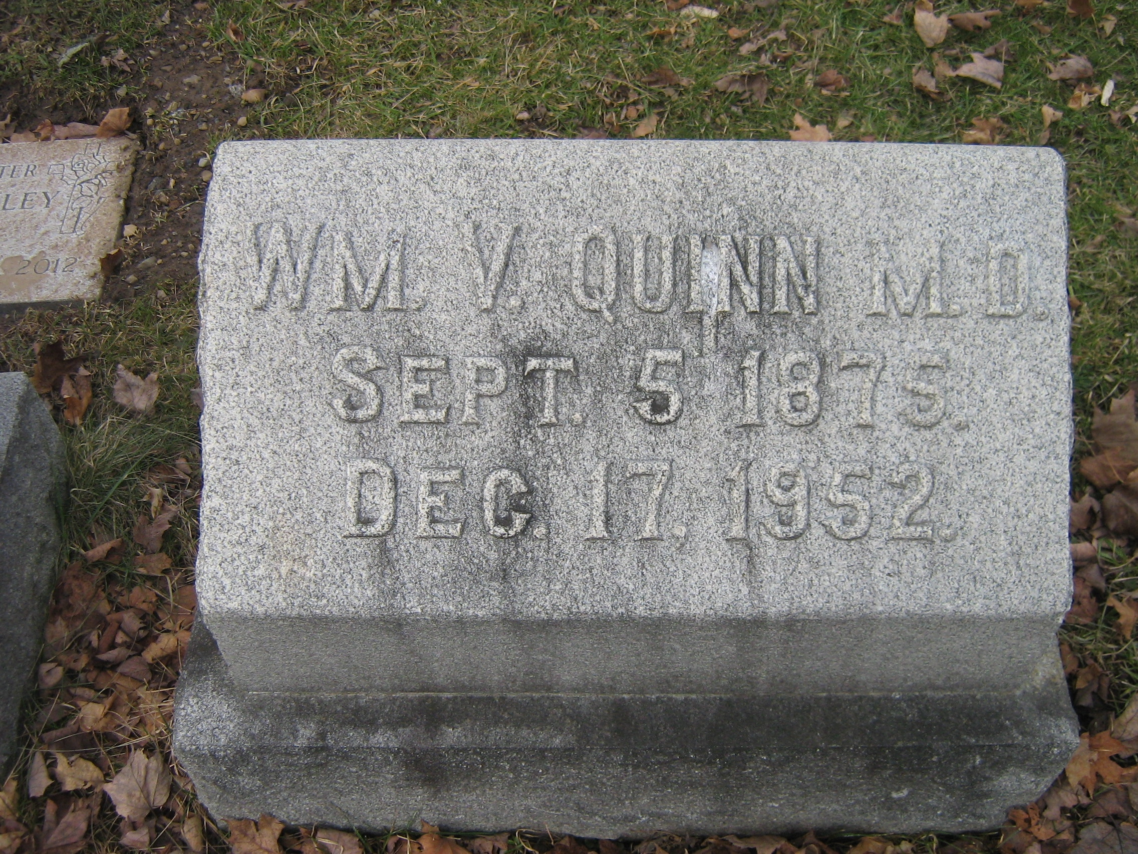 Dr William Vincent Quinn