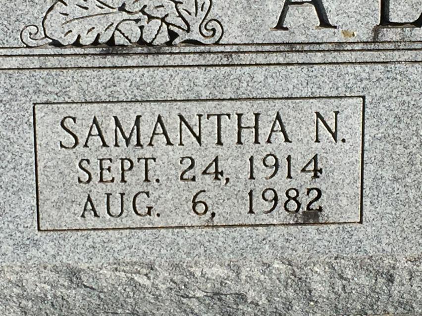 Nora Samantha <i>Fowler</i> Allen