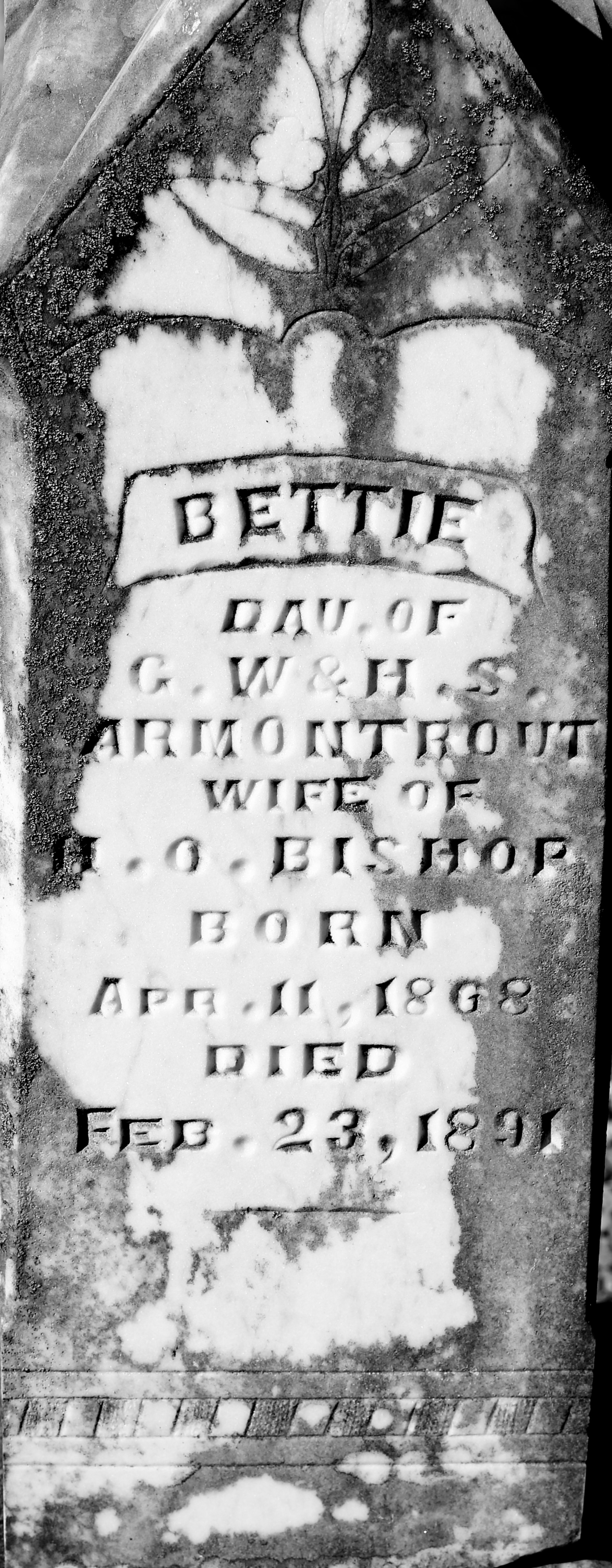 Bettie <i>Armontrout</i> Bishop