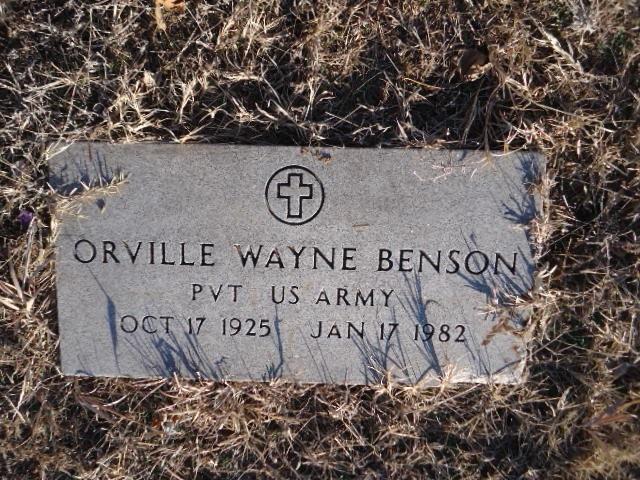 Pvt Orville Wayne Benson