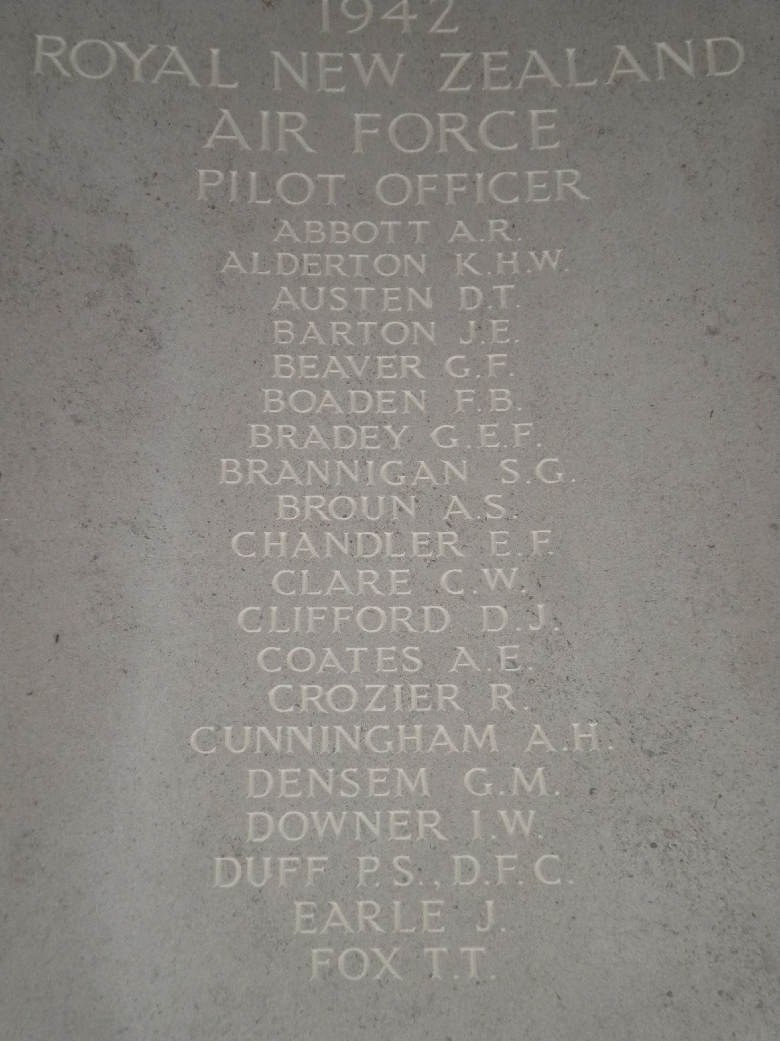 Pilot Officer Alexander Richard Abbott