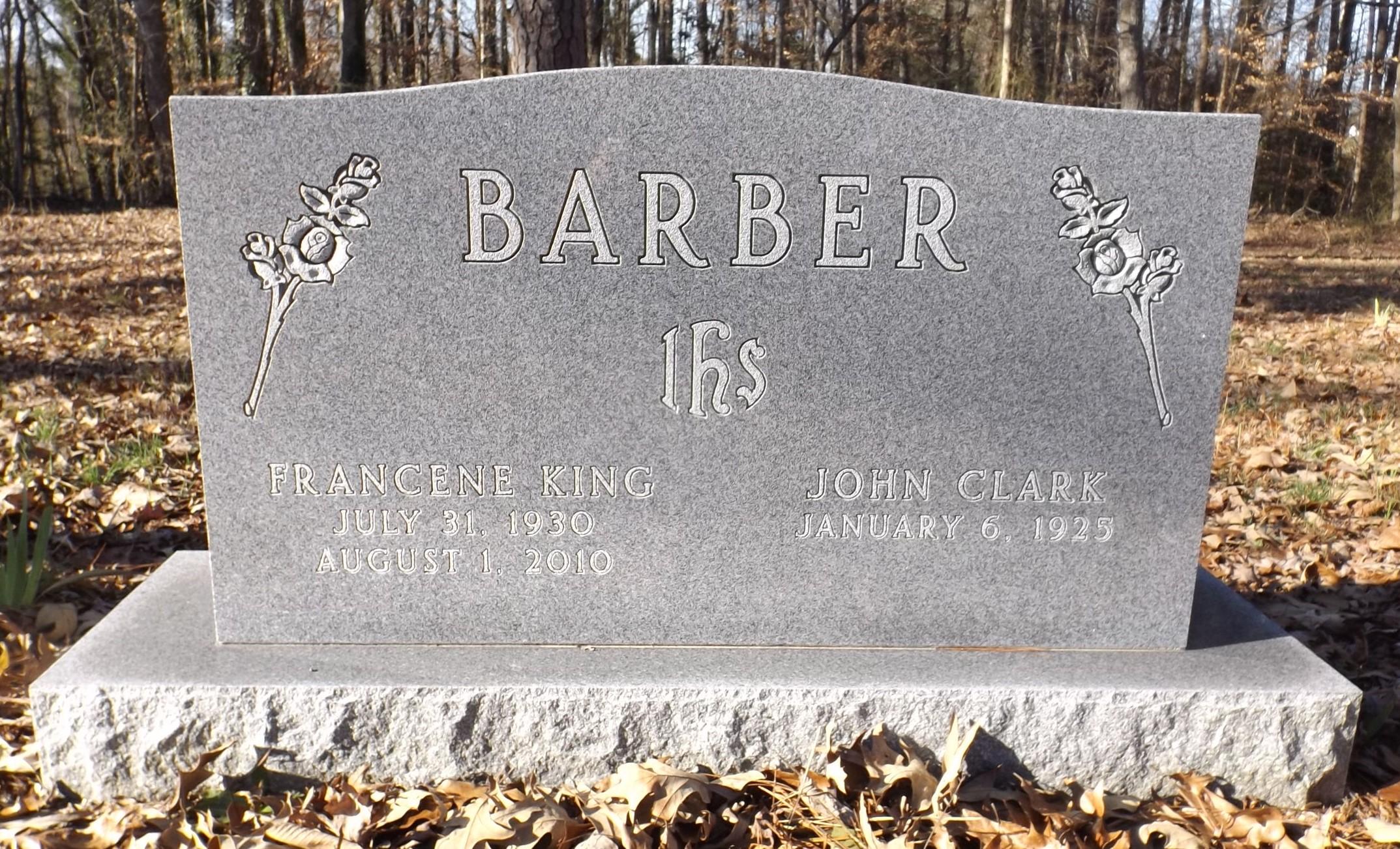 Francene <i>King</i> Barber