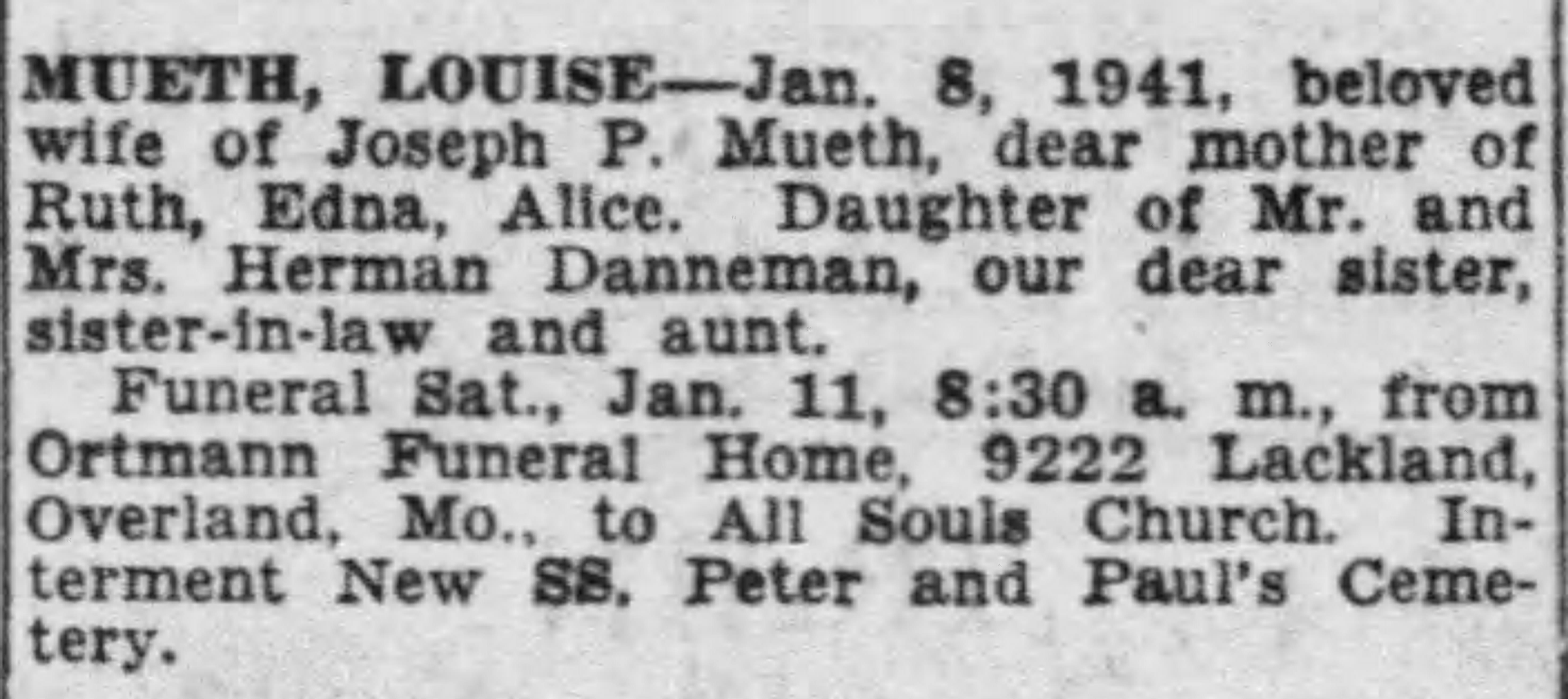 Louise Sophie <i>Danneman</i> Mueth