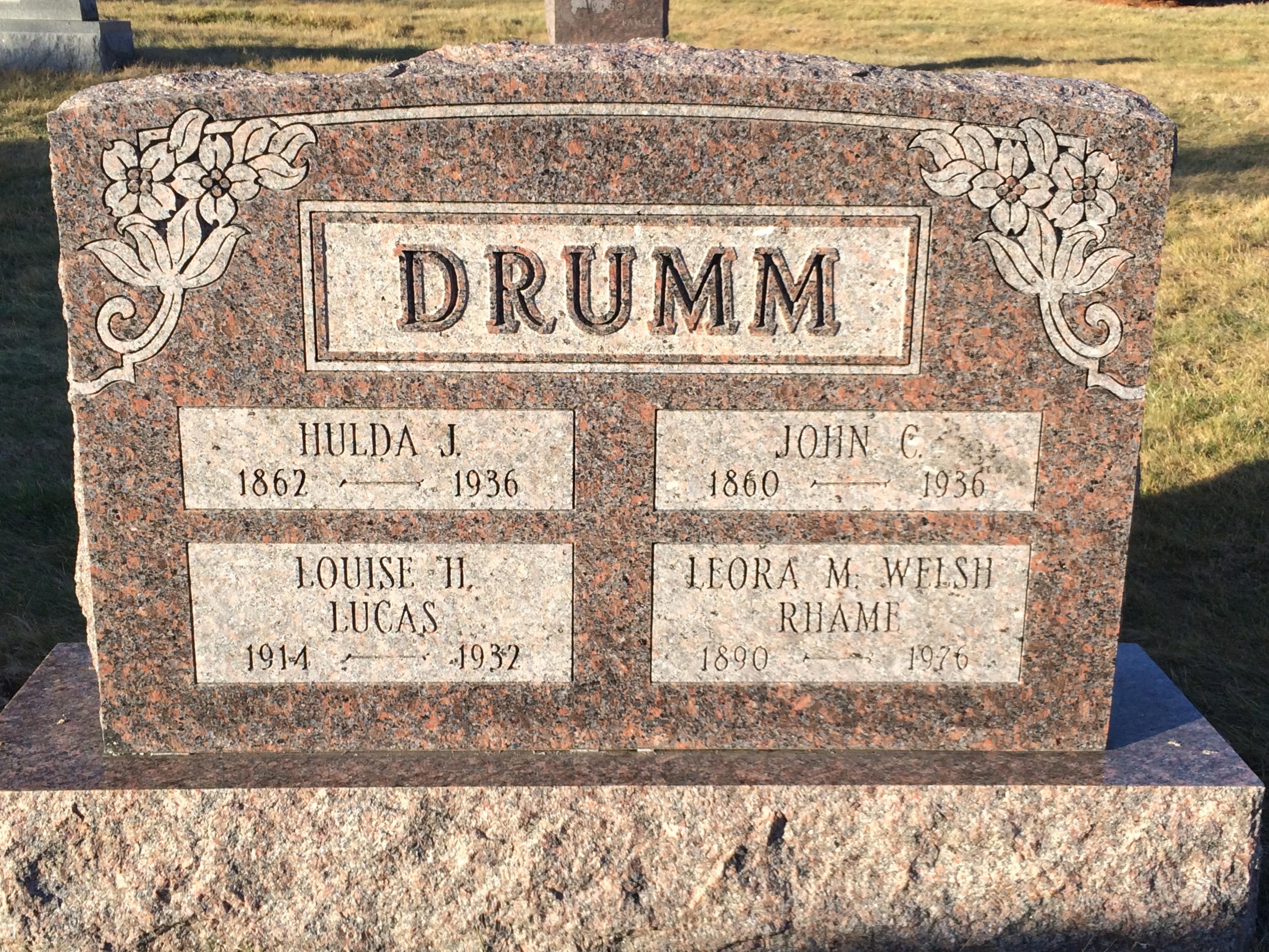 Hulda Jane <i>Harmon</i> Drumm