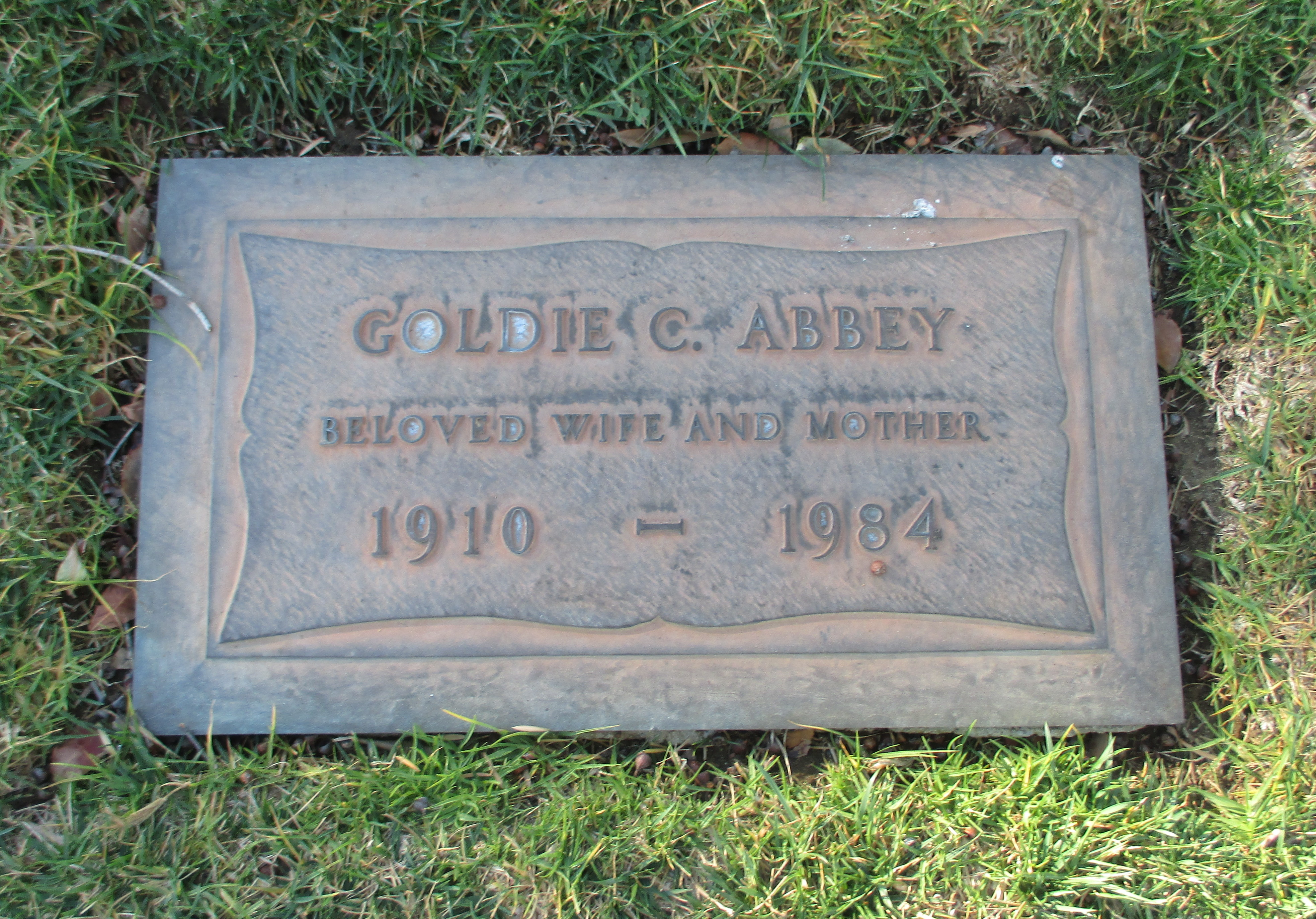 Goldie <i>Cook</i> Abbey