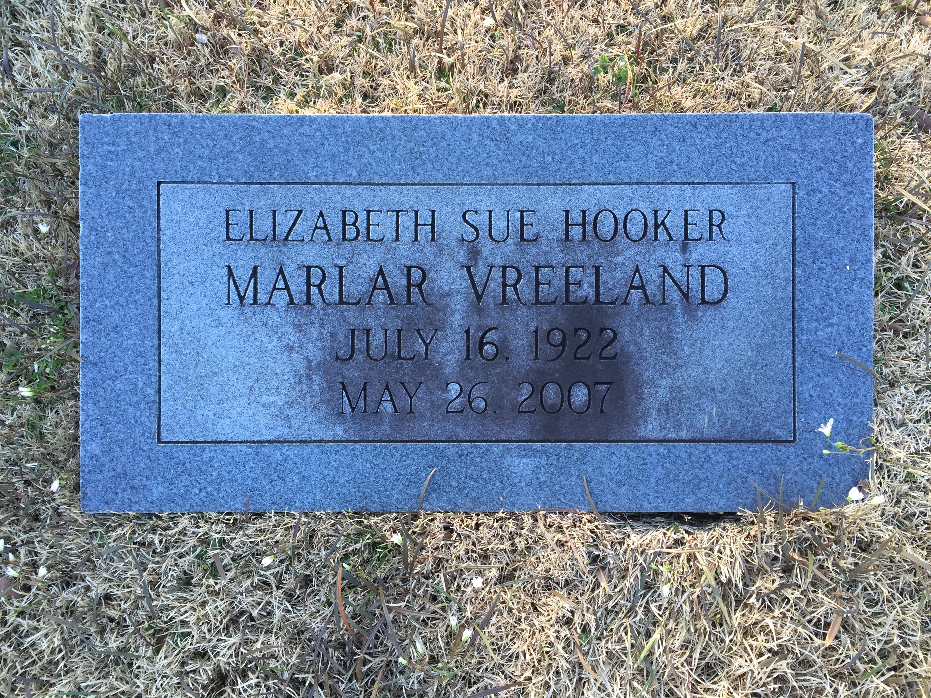 Elizabeth Sue <i>Hooker</i> Vreeland