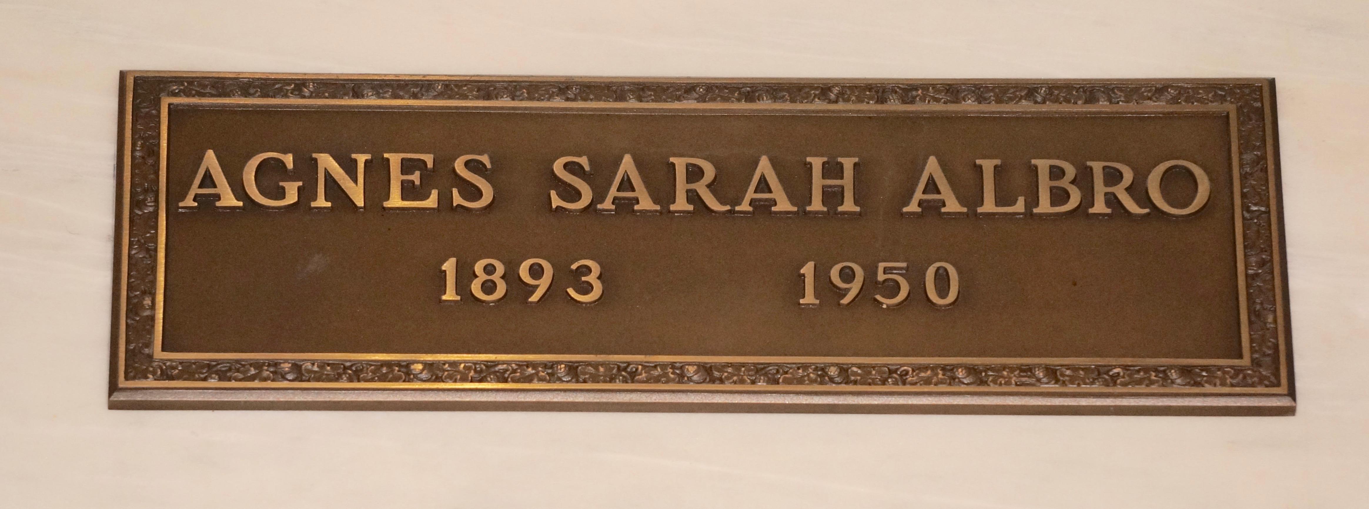 Agnes Sarah <i>Warwick</i> Albro