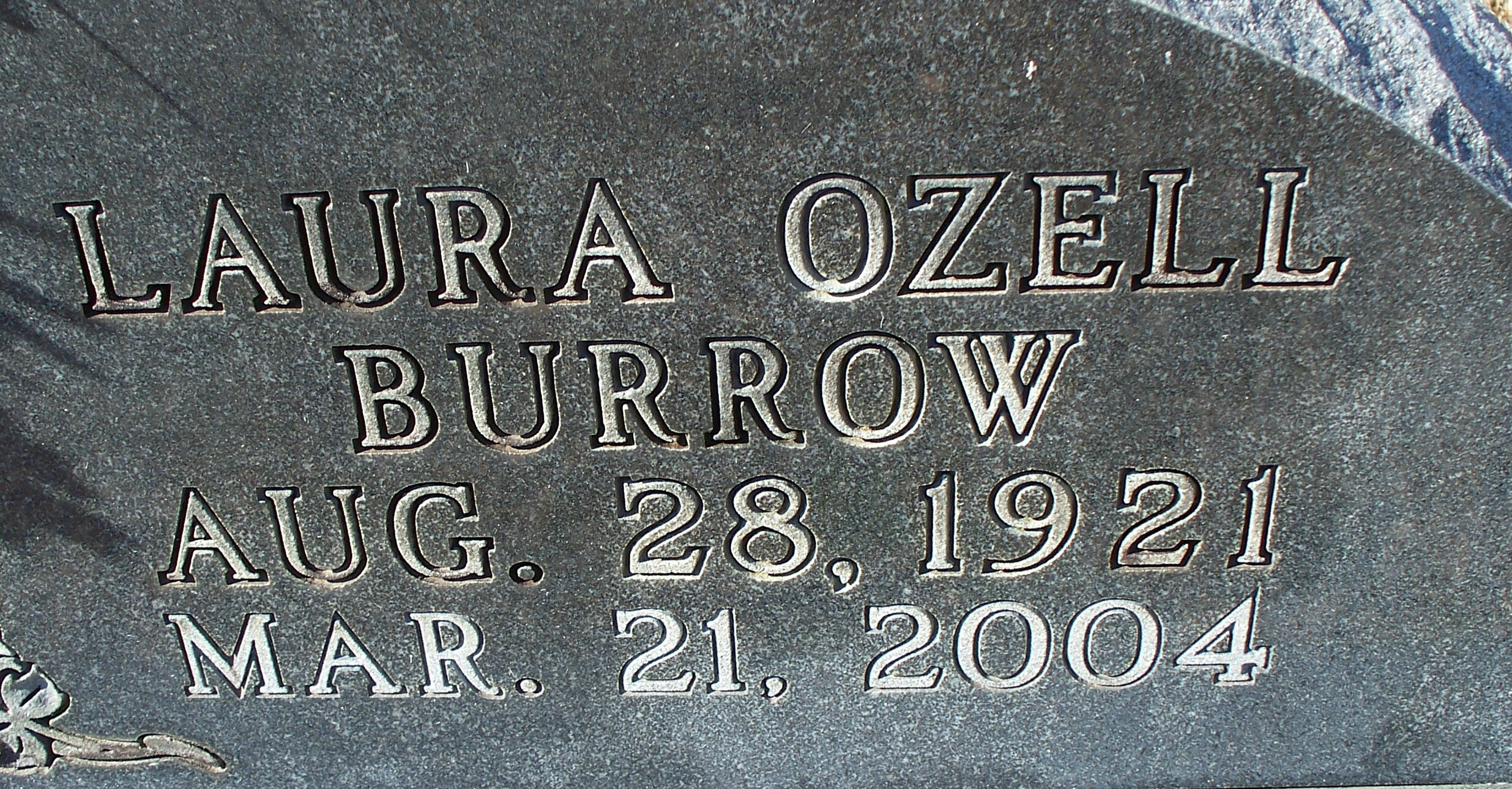 Laura Ozell <i>Burrow</i> Collins
