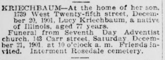 Lucy <i>Morgan</i> Kriechbaum