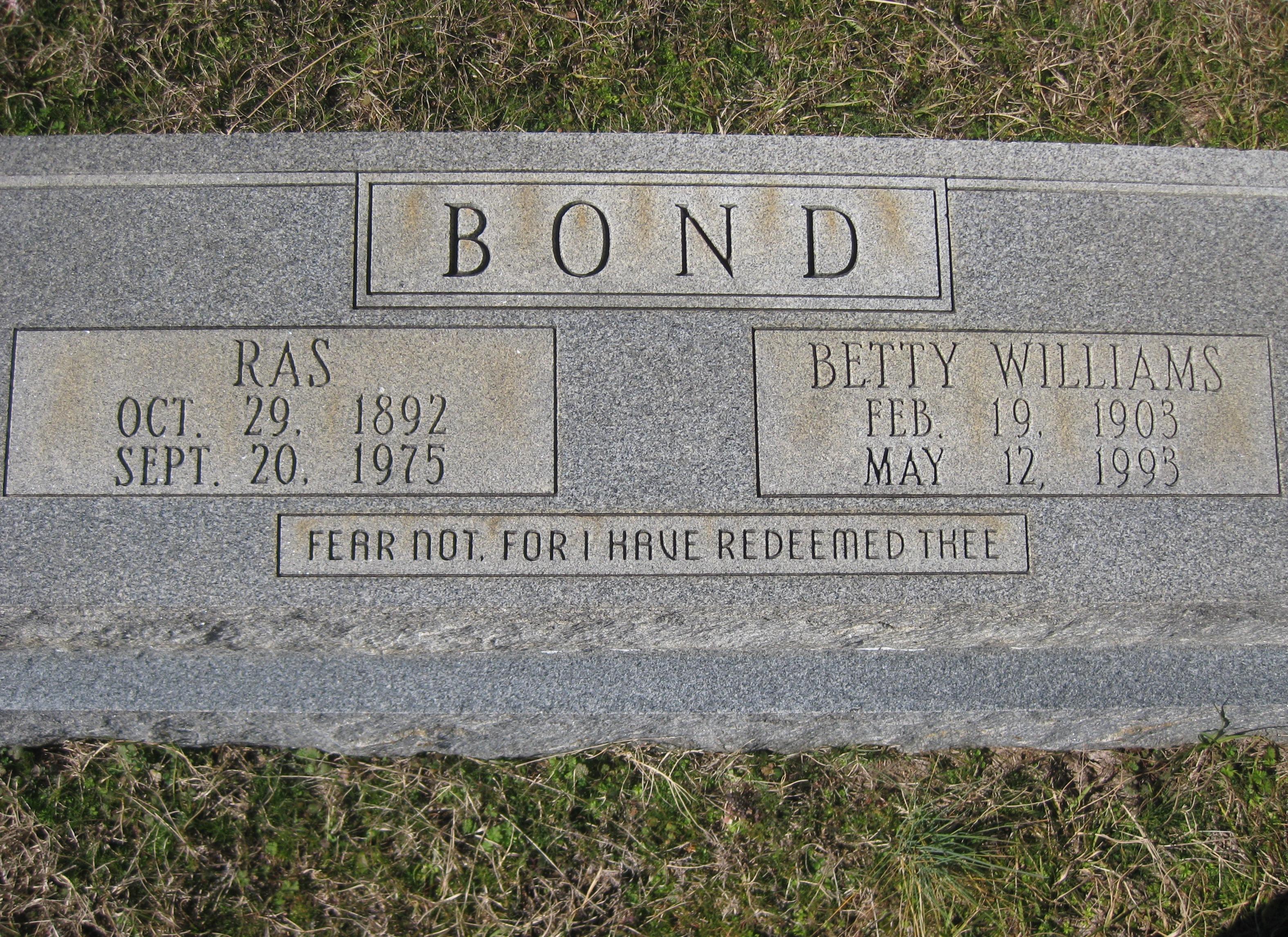 Betty <i>Williams</i> Bond