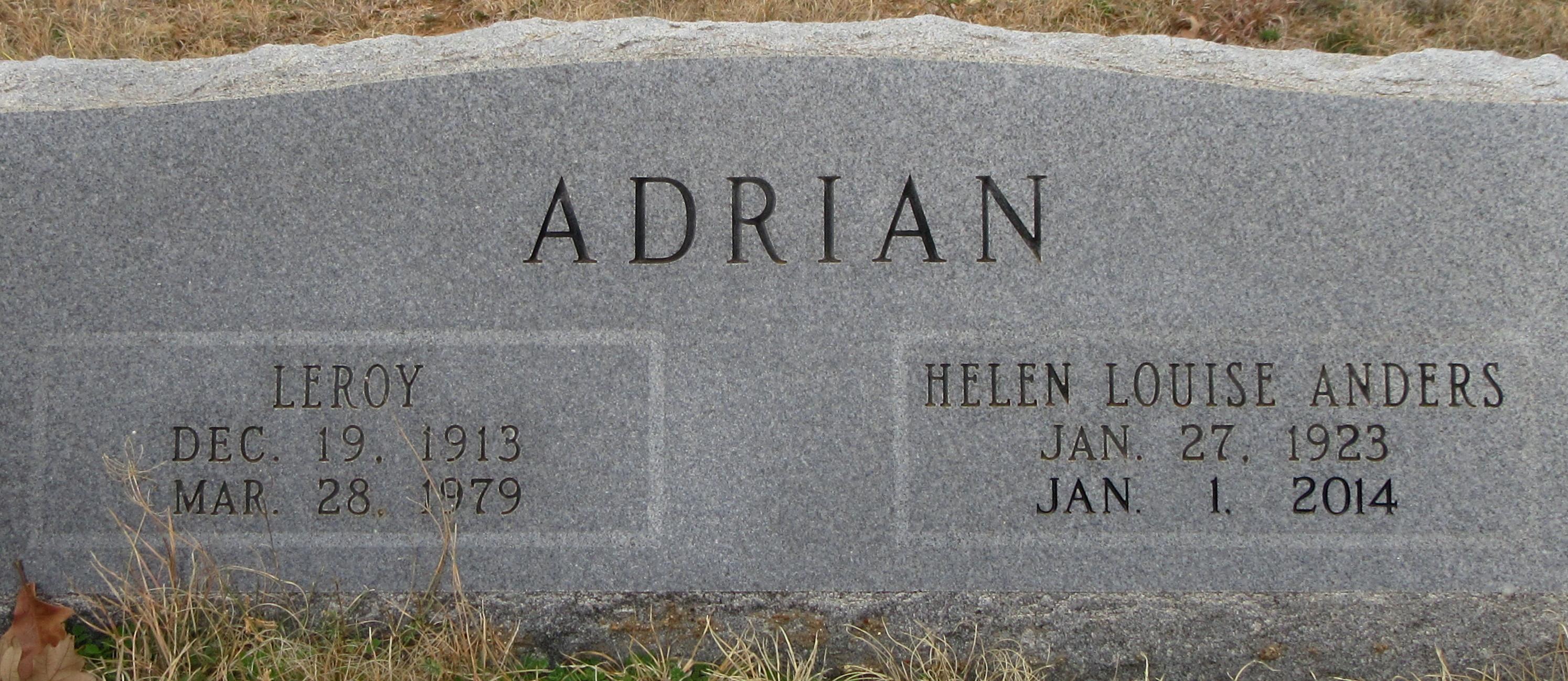 Helen Louise <i>Anders</i> Adrian
