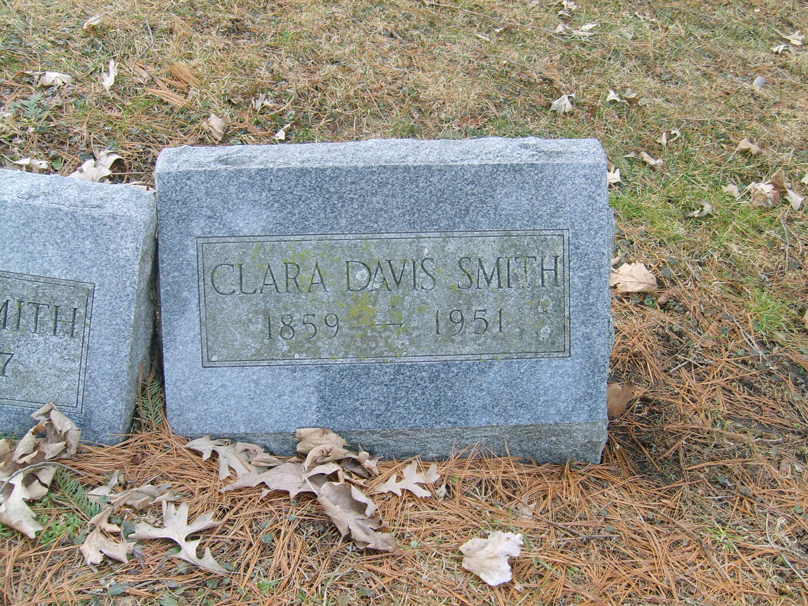 Clara <i>Davis</i> Smith