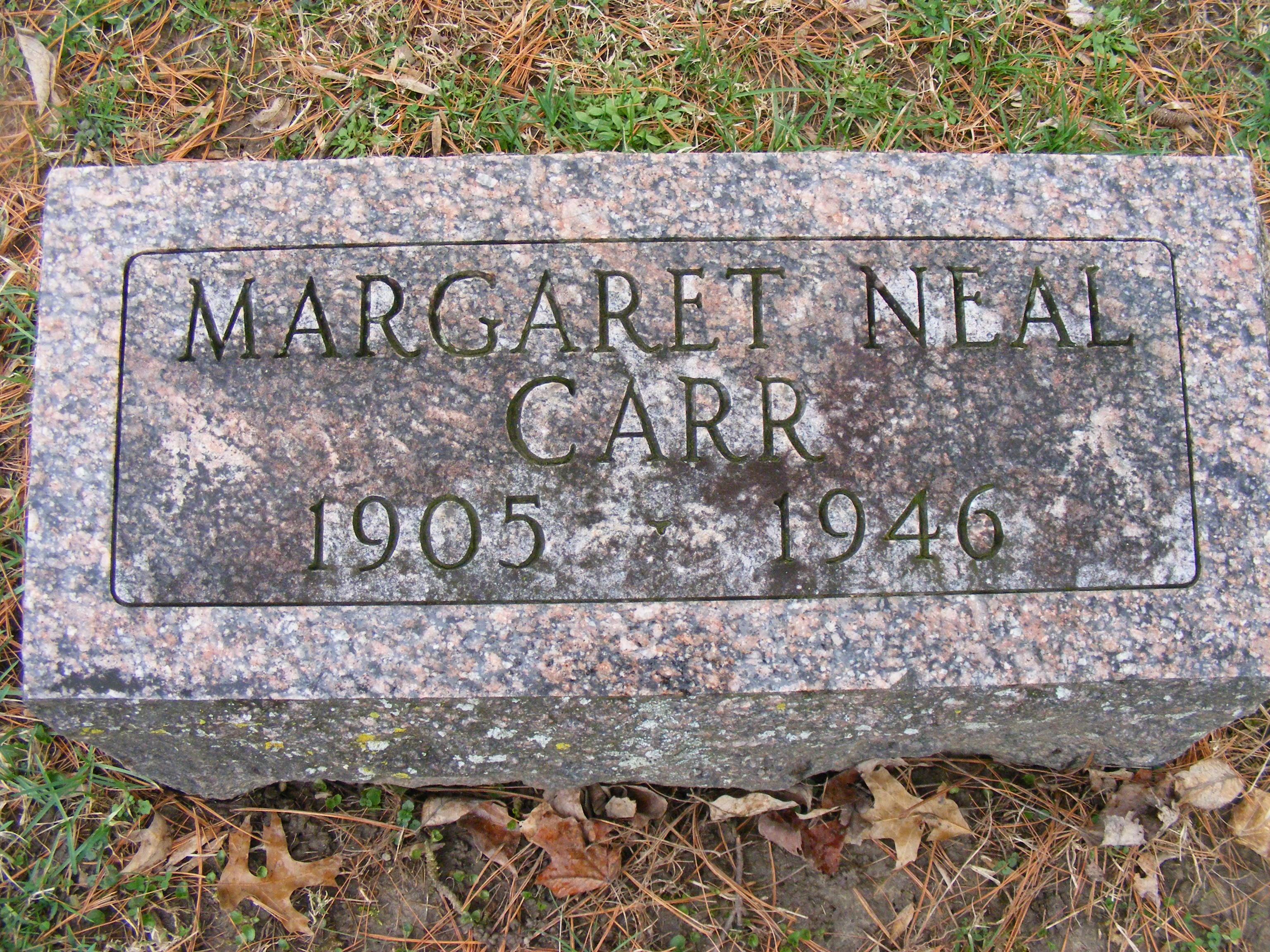 Margaret Mary <i>Neal</i> Carr