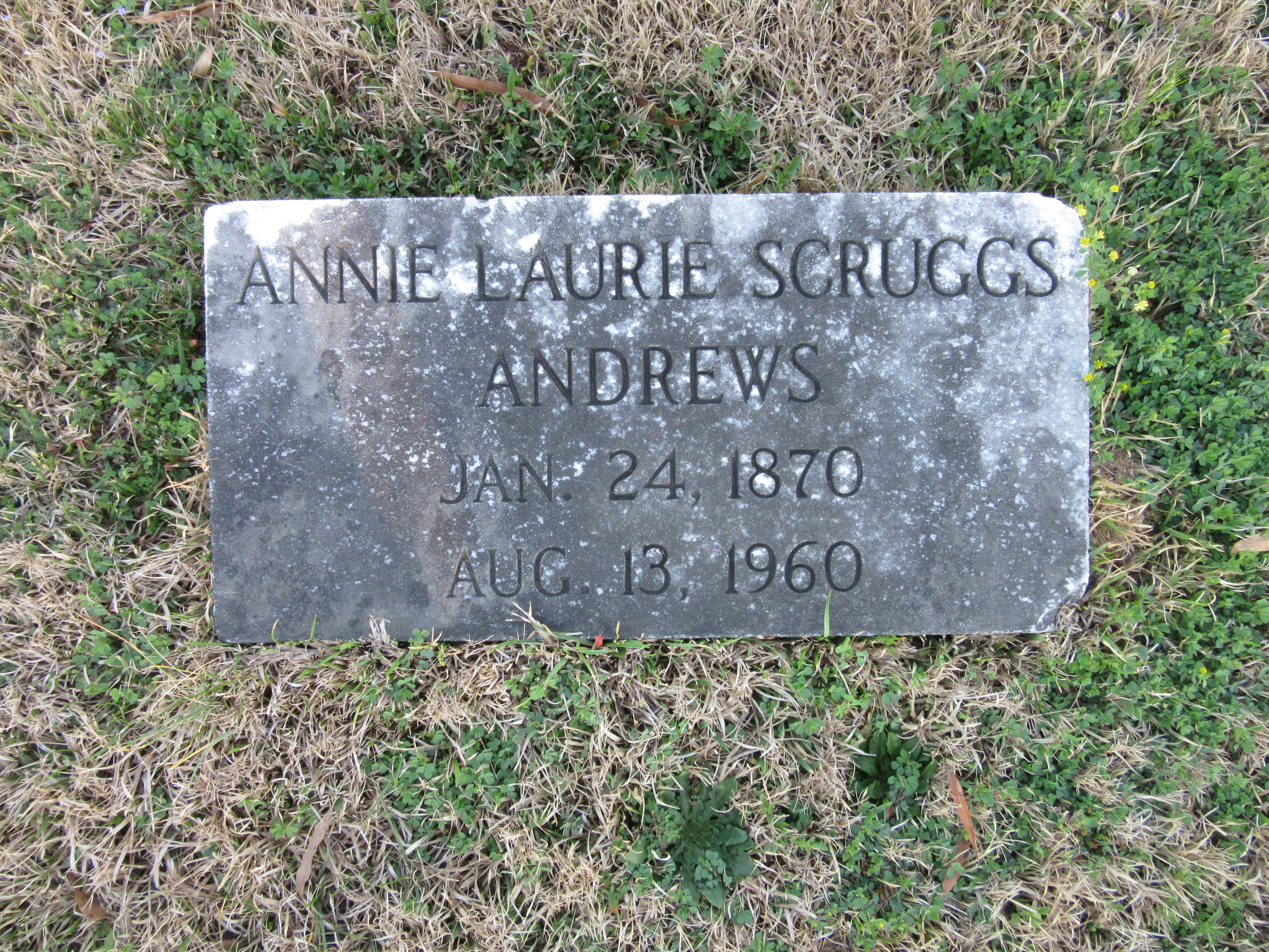 Annie Laurie <i>Scruggs</i> Andrews
